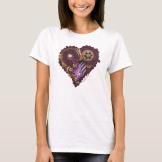 CardioArt-Assembled Heart  in Purple and Gold II T-Shirt