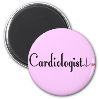 Cardiologist QRS Complex Gifts 2 Inch Round Magnet