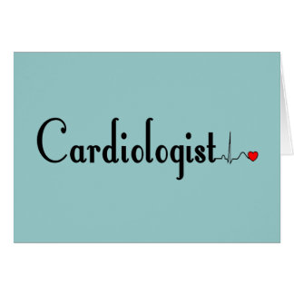 Cardiologist QRS Complex Gifts Card