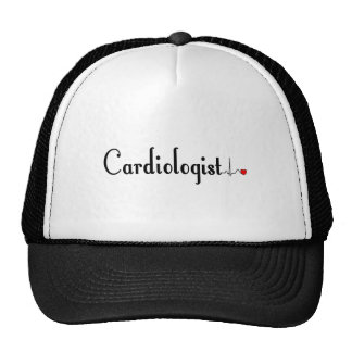 Cardiologist QRS Complex Gifts Mesh Hats