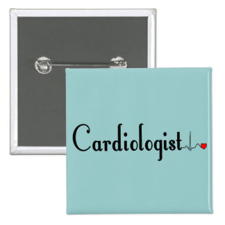 Cardiologist QRS Complex Gifts Pinback Buttons