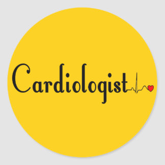 Cardiologist QRS Complex Gifts Round Stickers