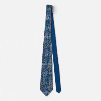 Cardiologist Rhythm Strip Watercolor Art Blue Tie