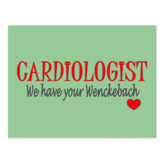 Cardiologist Wenckebach Funny T-shirt & Gifts Postcard