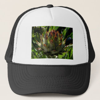 Cardoon flower bud trucker hat