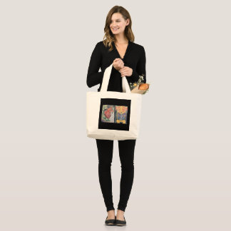 Cards #1 & 2 large tote bag