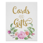 cards and gifts floral wedding pink rose sign