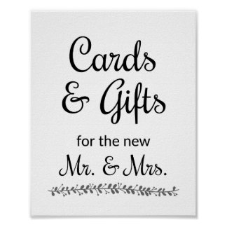 Cards and Gifts Wedding Sign - Rochester