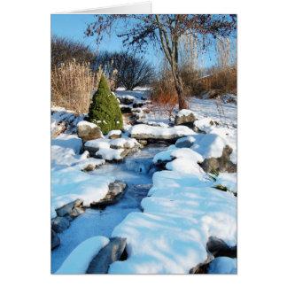 Cards - Christmas: Lovely snow scene w/stream