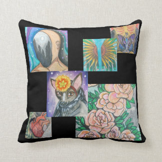 Cards Collection Throw Pillow