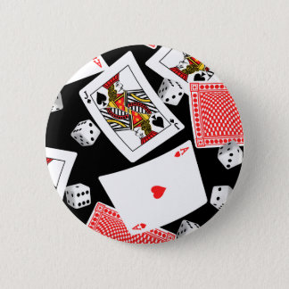 Cards & dice 2 inch round button