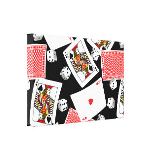 Cards & dice canvas print