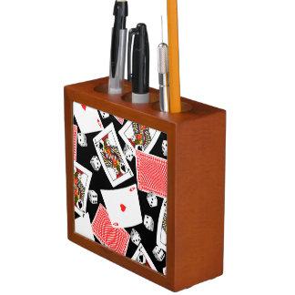 Cards & dice desk organizer