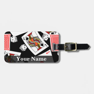 Cards & dice luggage tag
