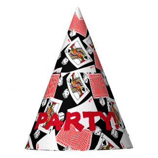 Cards & dice party hat