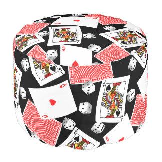 Cards & dice pouf