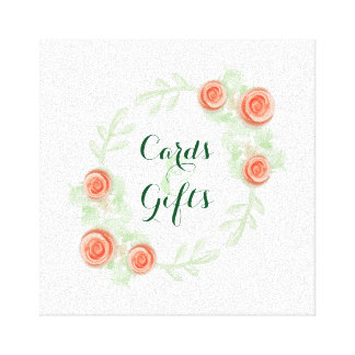 Cards & Gifts Sign - Floral Rose Border