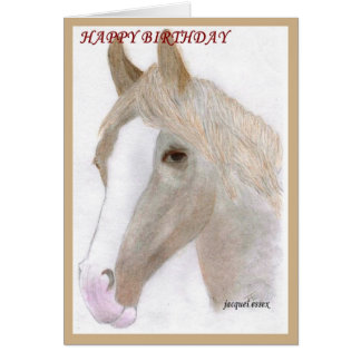 Horses birthday note cards horses birthday notecards cards amp notelets horse portrait birthday card bookmarktalkfo Images