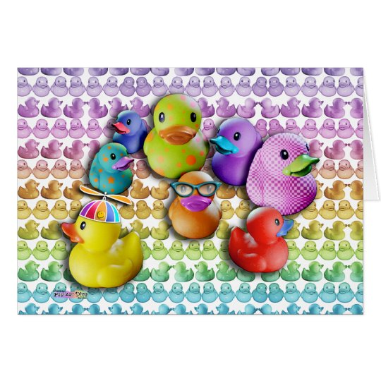 CARDS - Rubber Duckies Pop Art