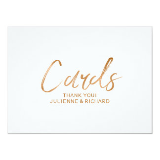 """""""Cards"""" Sign   Stylish Copper Lettered Card"""