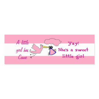 Cards to announce new aunt and new baby Girl Mini Business Card