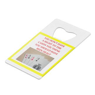 CARDS WALLET BOTTLE OPENER