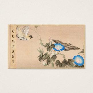 Cardueline Finch and Morning Glory Keibun Matsumo Business Card