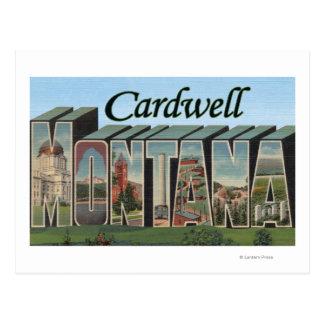 Cardwell, Montana - Large Letter Scenes Postcard