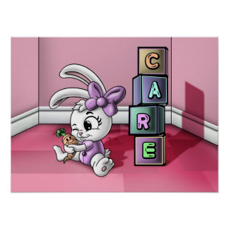 "Care Bunny 21.75""x16.28"" Value Poster Paper Matte"