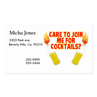 Care To Join Me For Molotov Cocktails Business Card Templates