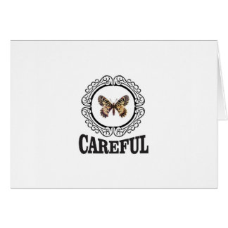 careful butterfly card