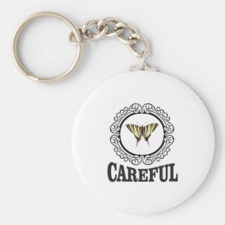 careful circle keychain