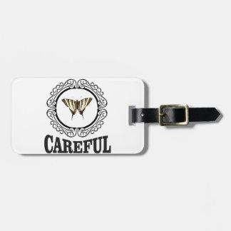 careful circle luggage tag