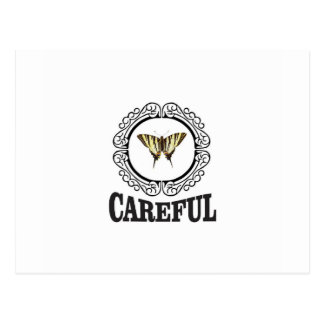 careful circle postcard