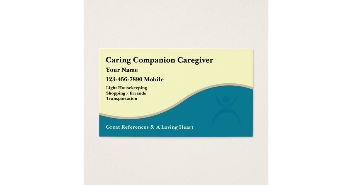 Caregiver Business Cards | Zazzle.ca