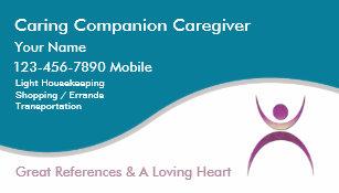 Caregiver Business Cards Profile