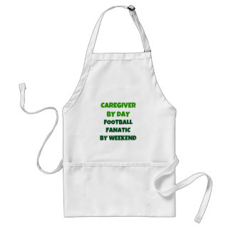 Caregiver by Day Football Fanatic by Weekend Standard Apron