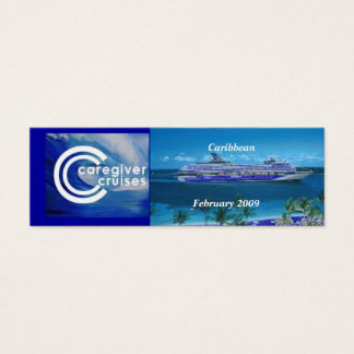 Caregiver Cruise Souvenir Bookmark Mini Business Card