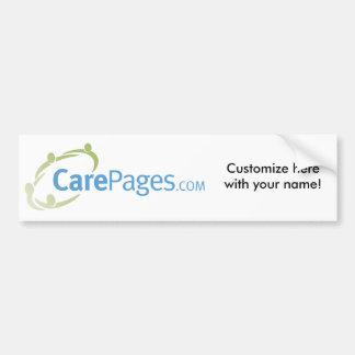 CarePages.com Custom Bumper Sticker