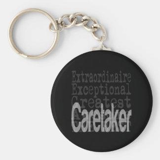 Caretaker Extraordinaire Basic Round Button Keychain