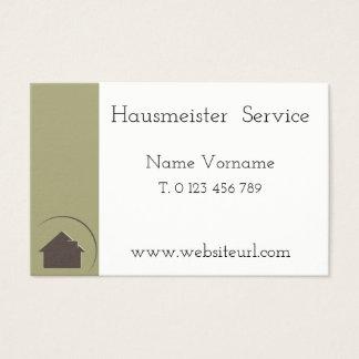 Caretaker service business card