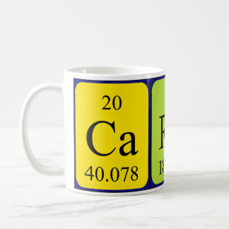 Carey periodic table name mug