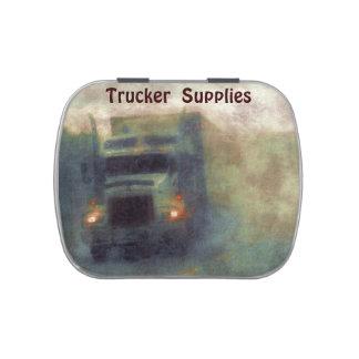Cargo Lorry Freight Supply Truck Driving Rain Art