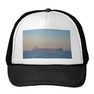 Cargo Ship In A Hazy Dusk Hats