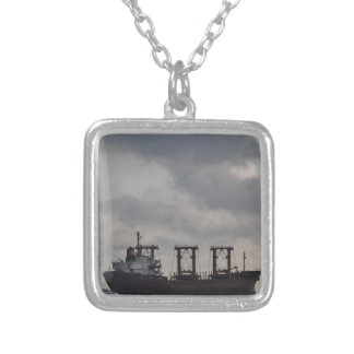 Cargo Ship TK Istanbul Silver Plated Necklace