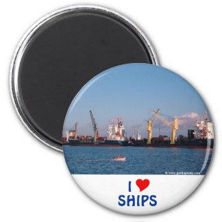 Cargo ships 2 inch round magnet