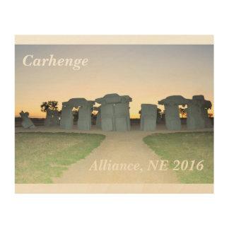 Carhenge Wood Art Wood Canvas