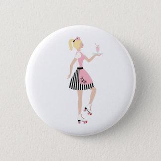 Carhop Girl 2 Inch Round Button