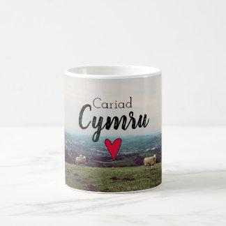 Cariad Cymru Love Wales Landscape Welsh Farm Sheep Coffee Mug