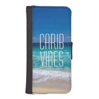Carib Vibes Tropical Beach Turquoise Water iPhone SE/5/5s Wallet Case